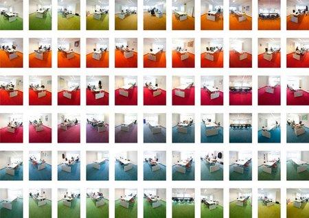 Espacios para trabajar: oficinas arcoíris