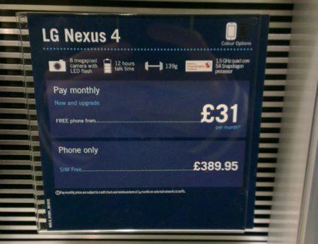 LG Nexus 4 Precio