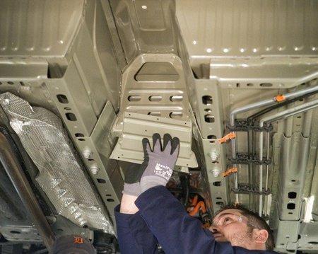 Nuevas piezas de refuerzo de la estructura de las baterías del Chevrolet Volt