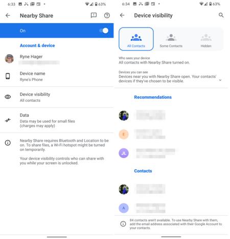 Nearby Share Compartir Archivos Airdrop Android Configuraciones
