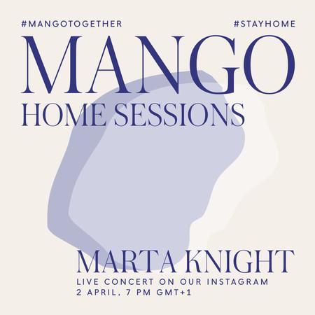 Mango se apunta a los conciertos en directo a través de Instagram