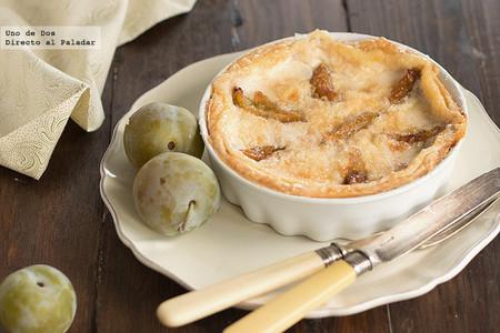 Tarta de ciruelas claudias, receta para aprovechar la fruta de temporada