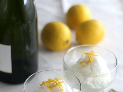 Sorbete de limón al cava. Receta para el menú de Fin de Año
