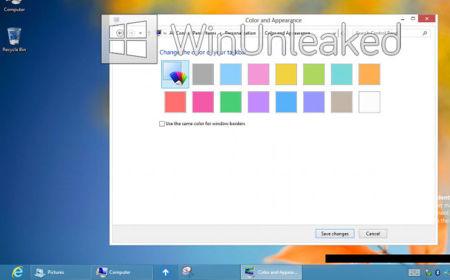 Windows 8, mezclador de colores
