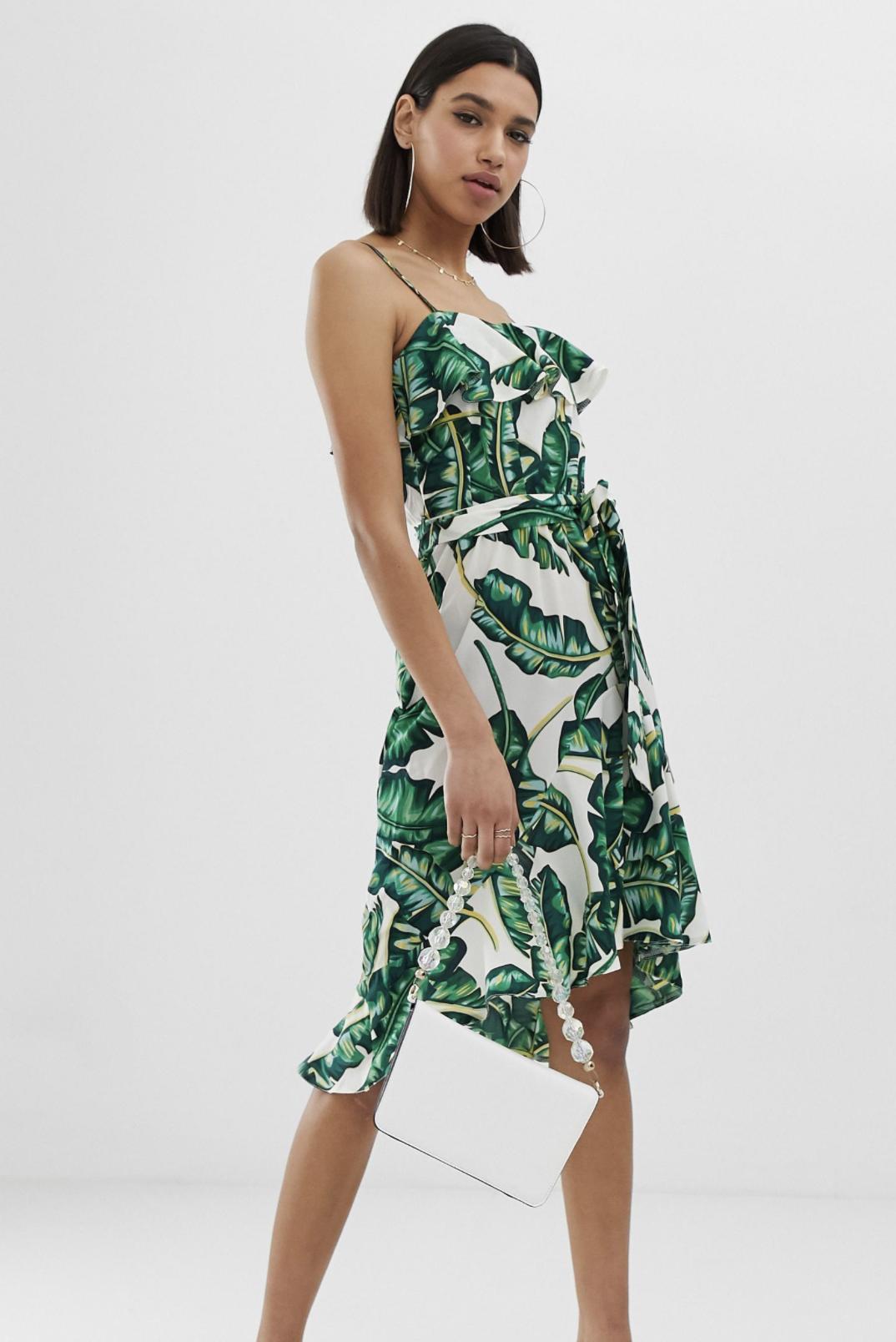 Vestido veraniego con estampado tropical de AX Paris