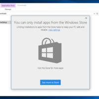 Windows 10 tendrá una función para bloquear la instalación de apps fuera de la tienda de Microsoft
