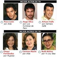 Premios Fotogramas de Plata 2006: Actores y Actrices de televisión