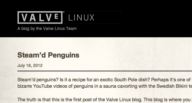 valve steam linux