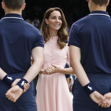 Kate Middleton triunfa con un total look en color rosa en la final de Wimbledon