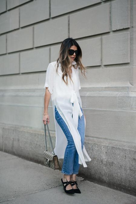 vestidos vaqueros debajo street style tendencia