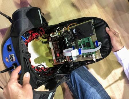 Interior mochila 5G para televisión
