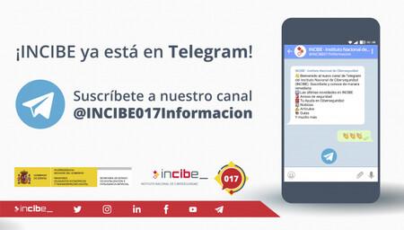 El Instituto Nacional de Ciberseguridad lanza su canal de Telegram para informar de noticias y actualidad en cuanto a seguridad