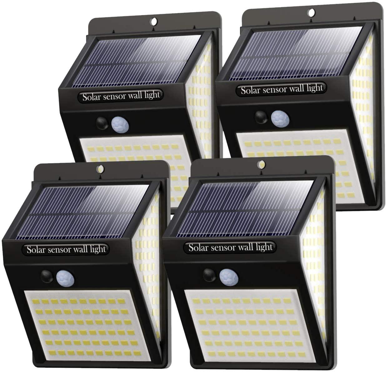 Litogo Luz solar exterior pack de 4 focos en Amazon