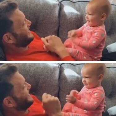 El tierno vídeo viral en el que un bebé intenta comunicarse con su padre sordo utilizando el lenguaje de signos