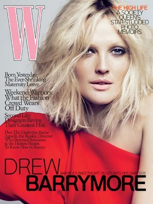 drw barrymore w magazine