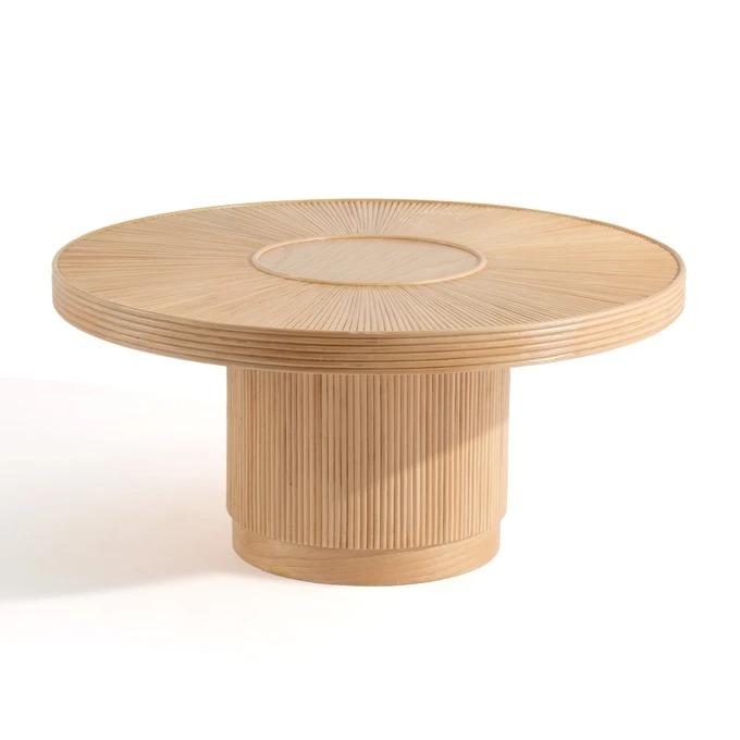 Mesa baja de caña de ratán ø81,5 cm Khaï