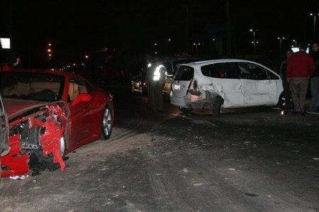 Ferrari California accidente 3