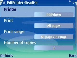 Pdf Printer, impresión en PDF para los Nokia serie E