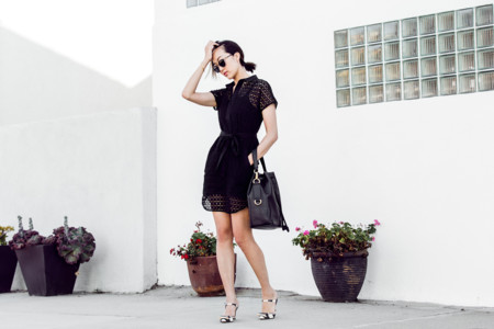 Chriselle Lim Little Black Work Dress 1