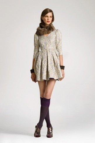 Lookbook Uterque Navidad 2010: vestido estampado