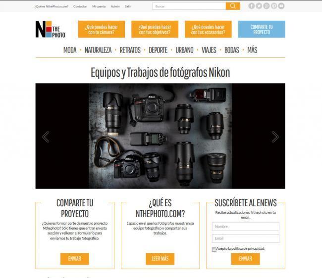 NThePhoto, el nuevo portal de fotografía de Nikon España
