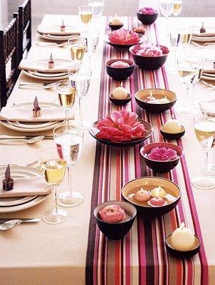 Viste tu mesa de primavera: colores, caminos y velas