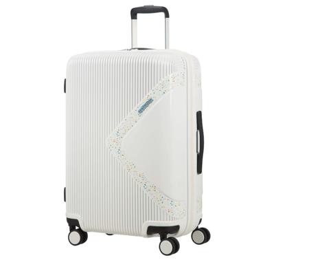 American Tourister Modern Dream Spinner M Expandible Maleta 68 5 Cm 81 L Blanco Stardust