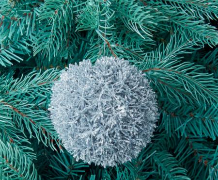 Bola Efecto Escarchado Para El Arbol Navidad El Corte Ingles