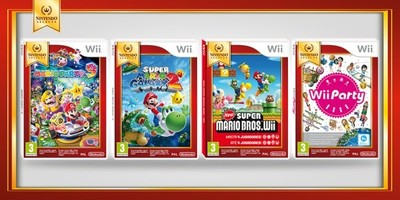 New Super Mario Bros. Wii, Super Mario Galaxy 2, Mario Party 9 y Wii Party estarán en Nintendo Selects en junio