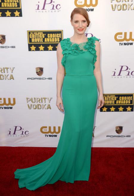 Jessica Chastain Critics Choice Awards 2014