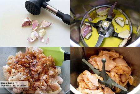 pollo al ajillo con pimentón