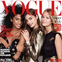 Vogue UK: Imaan,  Taylor y Anna