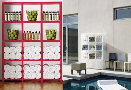 Posibilidades decorativas de una estanter a modular de for Estanteria bano toallas