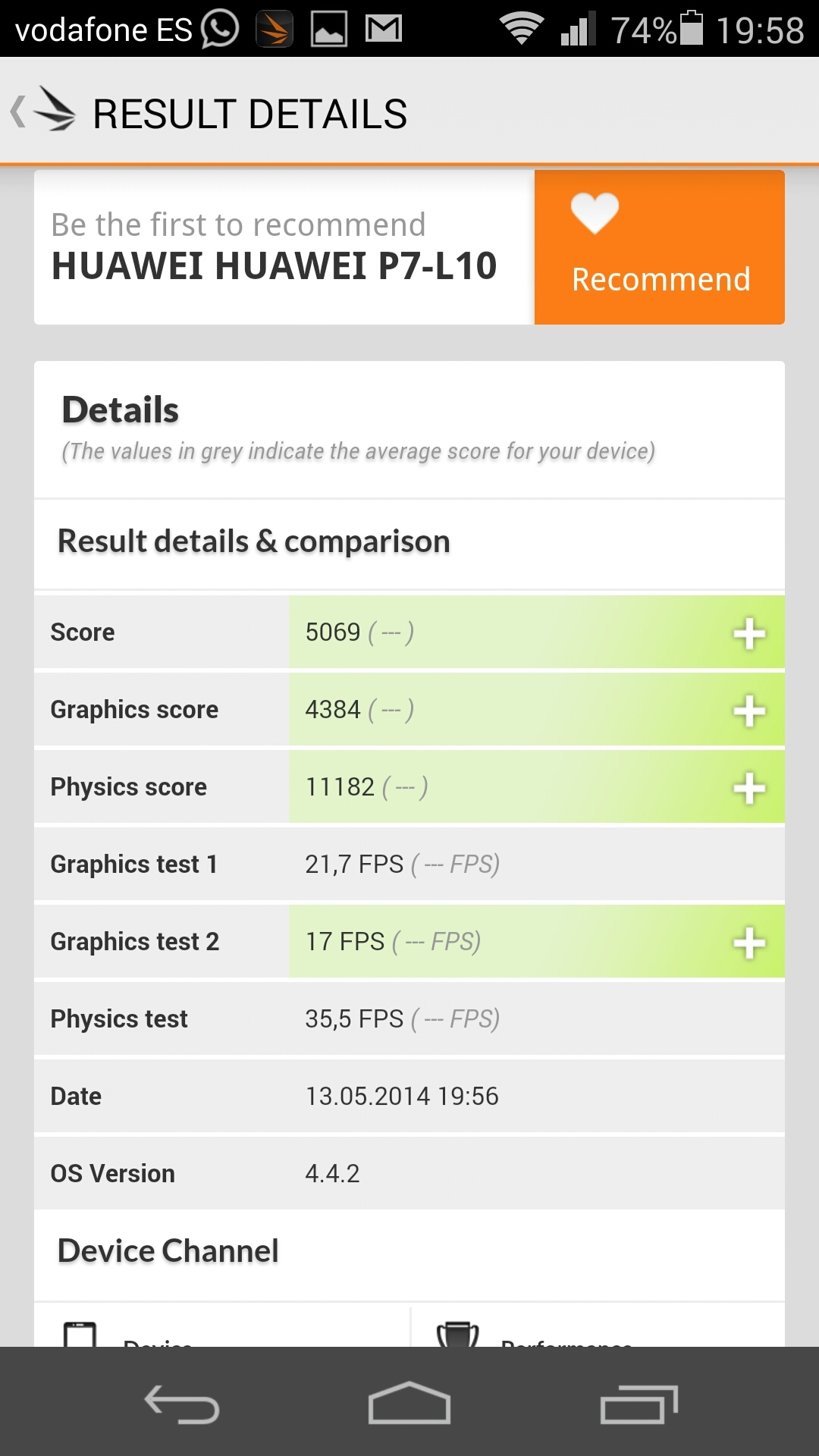 Foto de Benchmarks Huawei Ascend P7 (8/14)