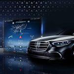 Esta es la primera imagen de la descomunal pantalla del Mercedes-Benz Clase S, y mañana conoceremos todos sus detalles