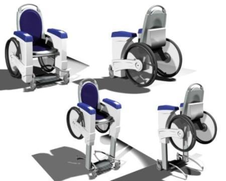 Silla de ruedas capaz de elevarse II