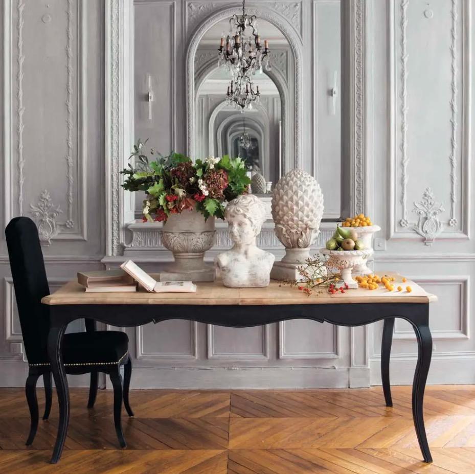 Mesa de comedor extensible de madera de mango Versalles - An. 180 cm