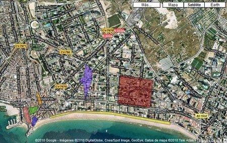 Mapa con las zonas de ocio de Benidorm