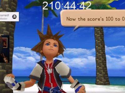 Un fan de Kingdom Hearts lleva a Sora al nivel 100... sin salir de las Islas del Destino