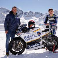 En helicóptero y en la nieve: así se ha presentado el equipo Reale Avintia Racing de MotoGP