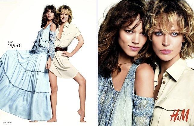 Foto de Campaña H&M Primavera-Verano 2011 con Freja Beha Erichsen y Raquel Zimmermann (11/16)