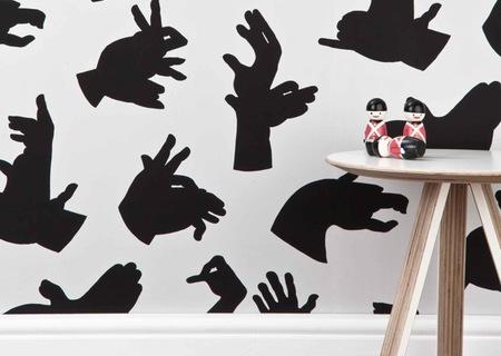 Papel pintado inspirado en sombras chinescas