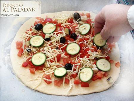 elaboración de la pizza