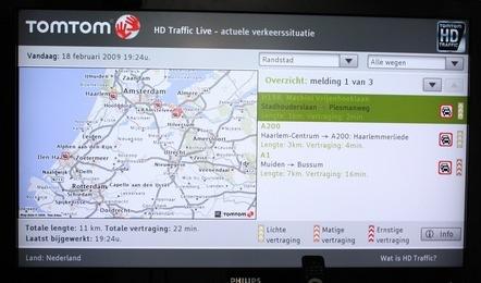 TomTom ofrecerá información en el NetTV de Philips