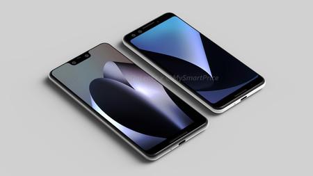 Así serán los Pixel 3 y Pixel 3 XL según los últimos renders: cámara única trasera y 'notch' en el modelo más grande