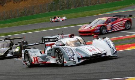 El Audi R18 e-tron Quattro se pasea por Monza