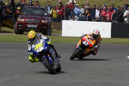 Rossi Pedrosa Gran Bretana Motogp 2008