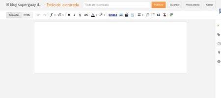 blogger google post editor interfaz diseño