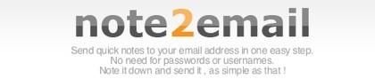 Note2mail, envía notas por correo electrónico sin necesidad de usar tu cuenta de correo