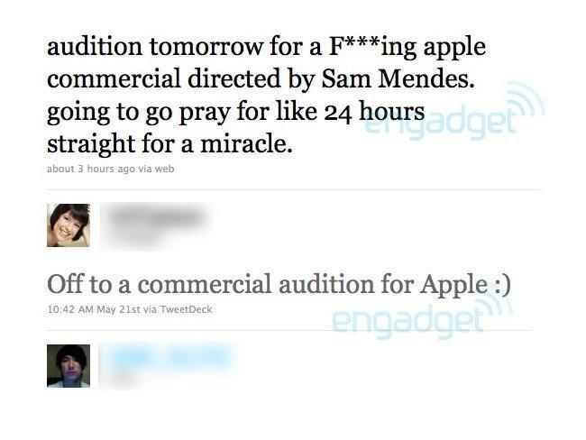 apple anuncios sam mendes twitter audiciones spot